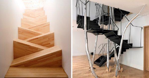 22 escaleras muy originales: ¿Quién no querría tener una preciosidad así en su casa?