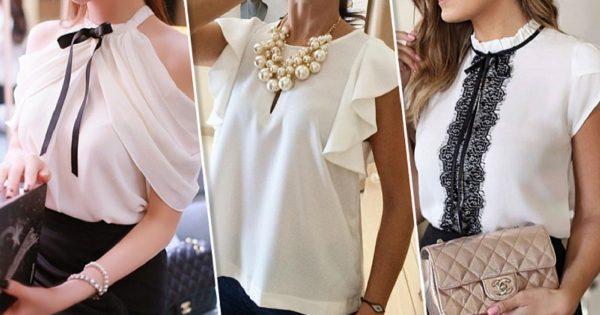 Una tendencia que no se puede perder: ¡15 hermosas y seductoras blusas blancas!