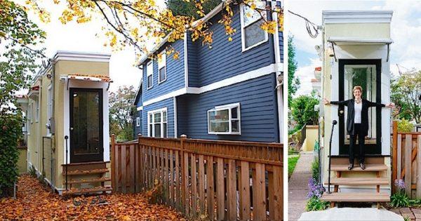 Ella construyó su casa de 1 m de ancho… ¡para mortificar a su ex marido!