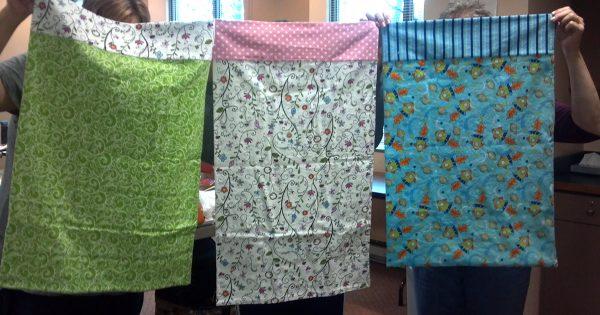 Cosí algunas fundas de almohadas juntas… ¡El resultado me encantó!