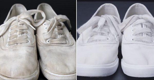 ¿Quieres limpiar tus zapatillas blancas sin mucho esfuerzo? Toma nota de este excelente truco…