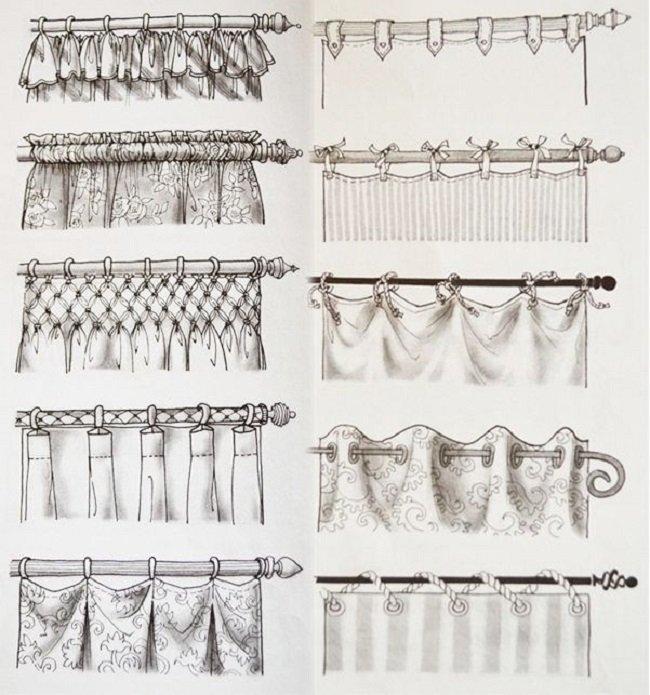 C mo colgar cortinas en la cornisa - Tipos de cintas para cortinas ...