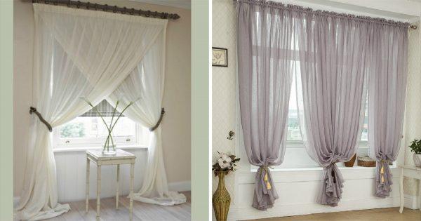 Cortinas de tul para las ventanas: ¡Hay para todos los gustos! Dale rienda suelta a tu inspiración…
