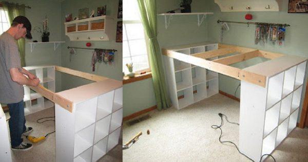 Cuando veas lo que este hombre construyó de tres estantes, te va a encantar. ¡Qué mueble tan funcional!