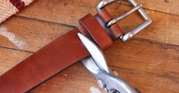 ¡Ver lo que se puede hacer de estos cinturones viejos, me quita el aliento! ¡Qué maravilla!