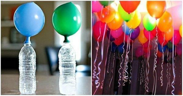 Cómo inflar globos voladores sin helio en casa.
