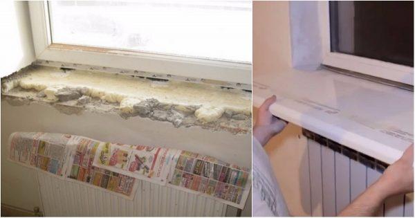 Así fue como transformó mi amigo el alféizar de la ventana de su cocina. ¡La idea de un millón!