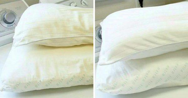Reglas para lavar las almohadas