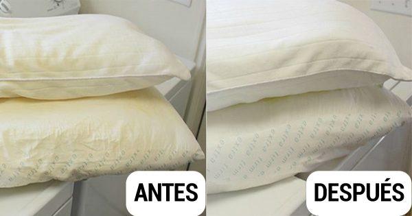 ¿Quieres devolverle la blancura a tus almohadas? ¡Este truco te será de mucha utilidad!