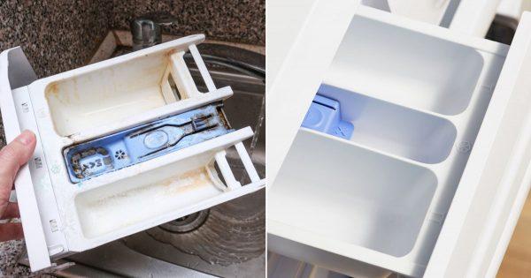 Cómo limpiar la bandeja de la lavadora del detergente y la suciedad