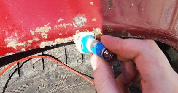Cómo eliminar permanentemente las manchas de óxido de la carrocería del automóvil