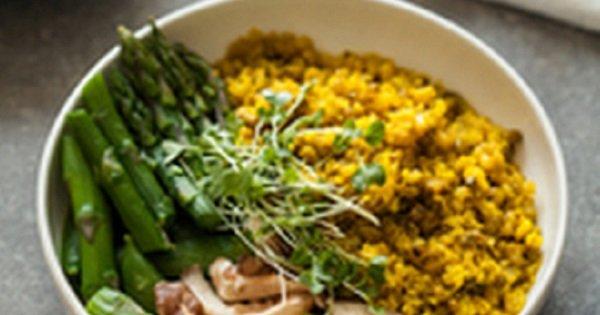 Quinoa con jengibre y cúrcuma. ¡Pseudocereal que disminuye la incidencia de cáncer!
