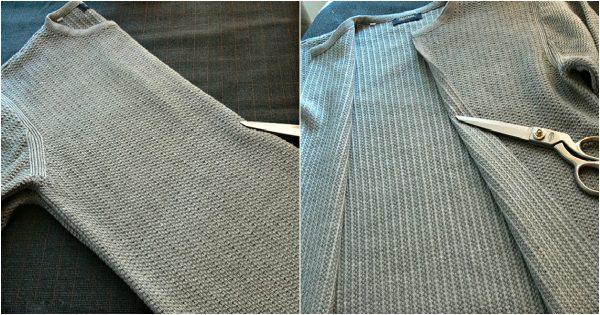 Una idea de fantasía para las mujeres: ¡Haz de tu viejo suéter una prenda única y original!