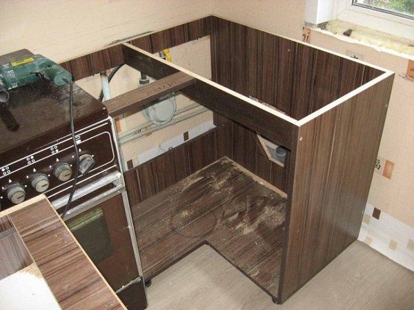 Как сделать шкаф под мойку для кухни своими руками фото 870