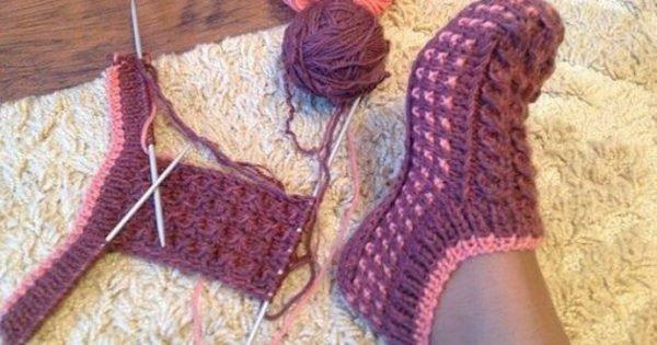 Cómo tejer pantuflas para la casa