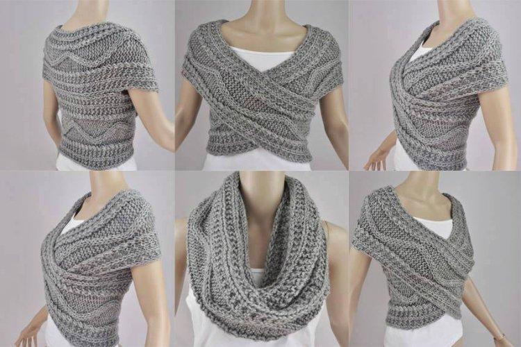 2 maneras de hacer una bufanda-transformer de estilo, con esquemas y ...