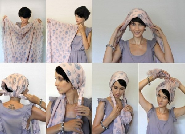 Cómo Usar La Bufanda En La Cabeza