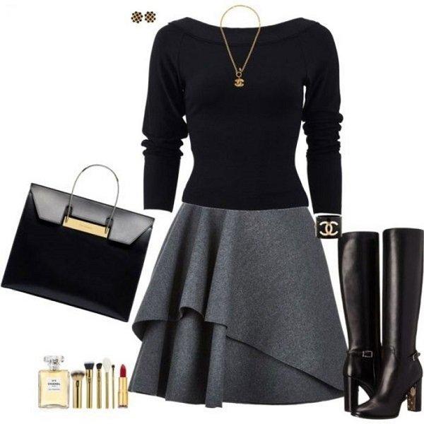 Con qu combinar los vestidos y faldas for Colores para combinar con gris