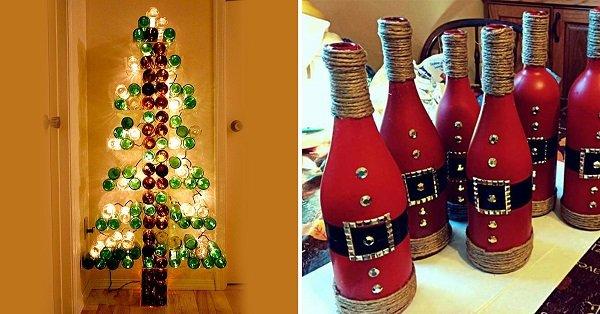 Decoraciones de botellas para navidad - Decoraciones para navidad ...