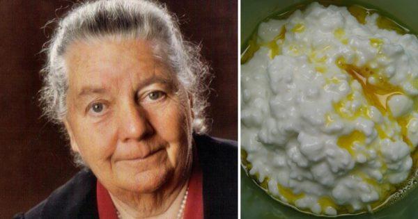 Johanna Budwig: «¡Descubrí este medicamento para el cáncer hace 60 años! Requesón, unas cucharadas…».