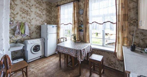 Técnicas obsoletas en interiores de cocinas modernas.