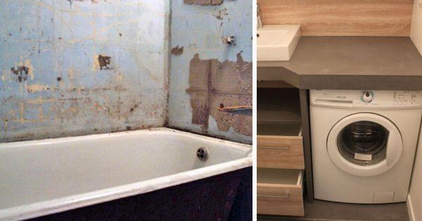 ¿Tu cuarto de baño es pequeño, y no hay espacio para la lavadora? No te desesperes… ¡Mira estas ideas!