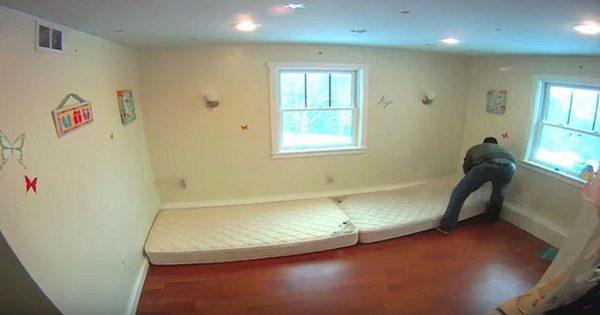 Él sacó todos los muebles del cuarto de sus hijas. ¡3 días después, el sueño de las chicas se hizo realidad!