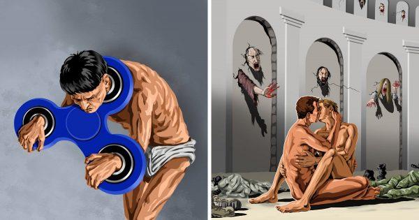 20 ilustraciones tópicas, que gritan los problemas del mundo moderno.