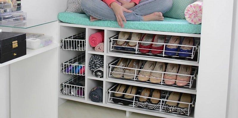 Estanter as para calzado en el pasillo - Estanterias para calzado ...