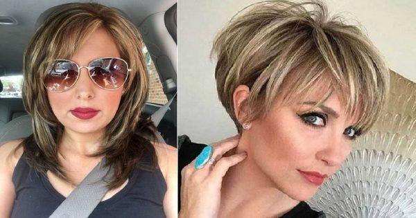 Cortes de pelo con estilo para mujeres en la edad adulta.