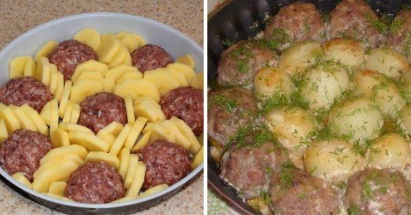 La receta del día: Albondigas + papas al horno. ¡Una delicia que no deberías dejar de probar!