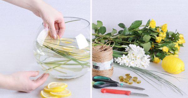La diseñadora tomó un jarrón de cristal y unas cuantas flores… Nadie esperaba tal resultado…