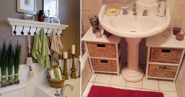 Brillantes ideas para organizar el espacio en el baño. ¡El # 7 fue el más impresionante!