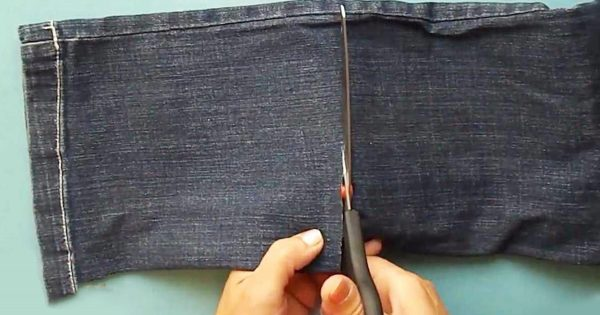 Si tienes es casa un viejo pantalón vaquero, y no sabes qué hacer con él, mira ESTO… ¡Te va a encantar la idea!