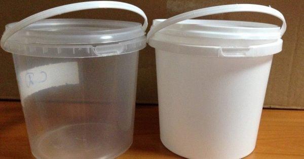 Atractivo uso para cubos de plástico.