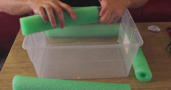 ¡Él cortó un aquastick en 4 trozos… para hacer una cosa única!