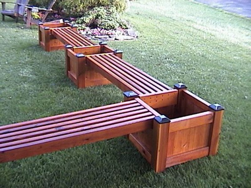 Lujoso banco madera exterior vi eta ideas de decoraci n for Muebles para jardin de madera