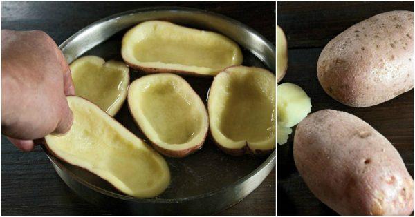 Ella cortó las patatas en dos partes, ¡y a los 30 minutos ya tenía para la cena algo increíble!