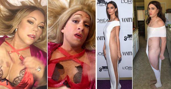 18 divertidas parodias de las celebridades. ¡Intenta encontrar al menos una diferencia!