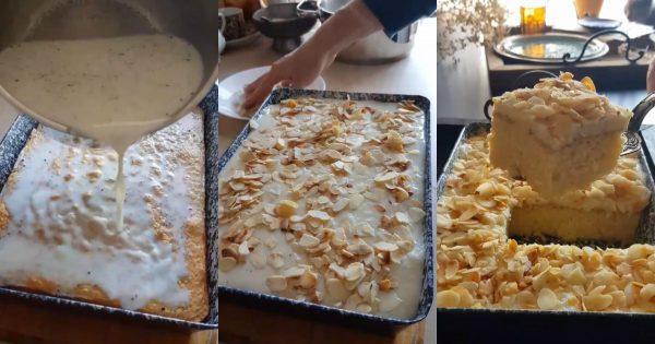 La receta del día: Pastel árabe de leche en almíbar