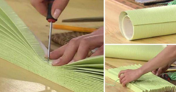 Cómo convertir un rollo de papel tapiz en una obra de arte