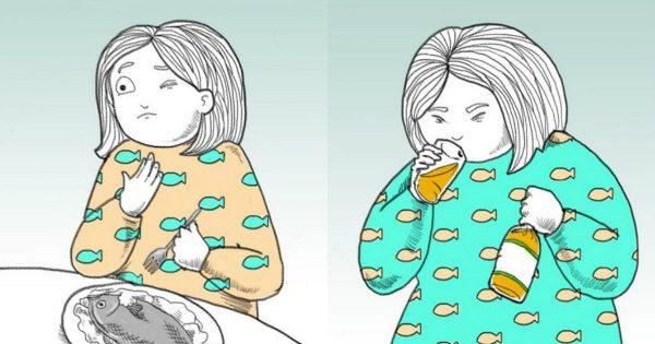 Cómo deshacerse de una espina de pescado atorada en la garganta.
