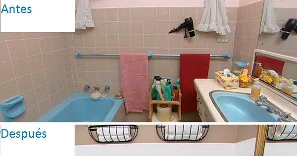 Su cuarto de baño era viejo y feo… hasta que puso en práctica este truco. ¡Súper!