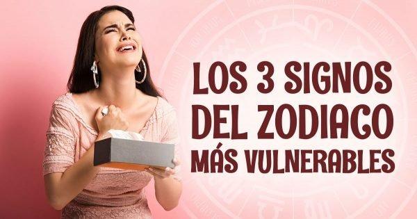 Los tres signos del zodiaco más sensibles