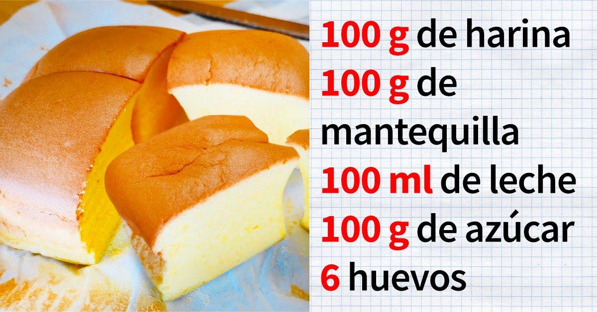 La receta del día: «Castella», un pastel taiwanés de huevo