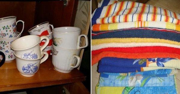 Por qué no deberías guardar paños de cocina viejos