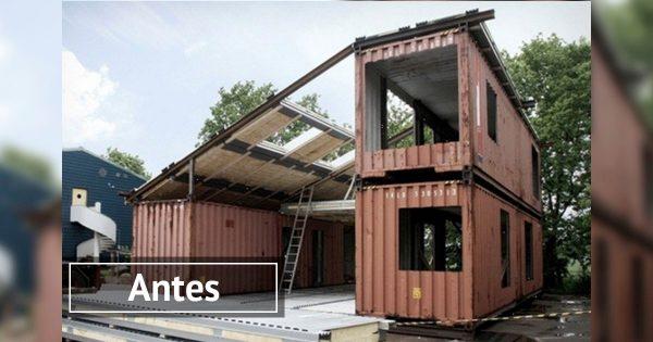 Ingenio al máximo: Una preciosa mansión, construida… ¡a partir de 3 contenedores!